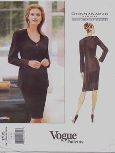 DKNY Vogue American Designer Pattern 1705 Womens by CloesCloset, $13.00