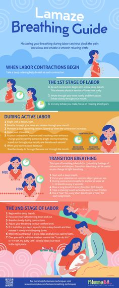 Lamaze Breathing Techniques [INFOGRAPHIC - Concentrate on your breathing. This distracts your mind from the pain. Pregnancy Labor, Pregnancy Workout, Stages Of Pregnancy, Pregnancy Videos, Pregnancy Guide, Pregnancy Quotes, Pregnancy Announcements, John Smith, Lamaze Breathing