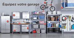 Shop Tool Storage & Shop Organization at Canadian Tire online Garage Workshop Organization, Storage Organization, Tool Storage, Locker Storage, Canadian Tire, Shelves, Cabinet, Furniture, Shopping