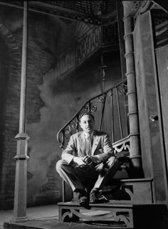 Tennessee Williams on the set of A Streetcar Named Desire in 1947.
