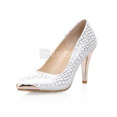 Mujer Zapatos Semicuero Primavera Verano Otoño Tacón Stiletto Para Vestido  Blanco Azul Claro 2019 - US  37.99 f170564b682e