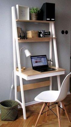 New room decor ideas desk small spaces Ideas Home Office Storage, Home Office Desks, Home Office Furniture, Furniture Ideas, Office Table, Small Office Desk, Mini Office, Office Spaces, Small Apartment Furniture