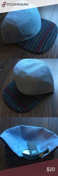 Aztec 5 Panel Hat Trendy Denim 5 Panel Hat with Aztec Patterned Brim! Aztec is a huge trend this fall in Streetwear and have fallen for this hat! My loss is your gain :)  Tagged PacSun for exposure ✨🎁 Free Gift with any bundle! PacSun Accessories Hats