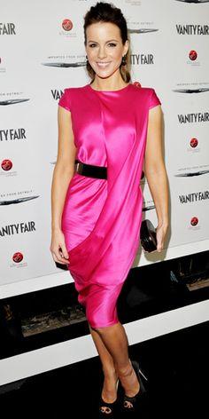 Kate Beckinsale's pretty pink design.