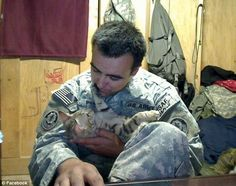 'He was my saving grace': Heartwarming story of how U.S. soldier saved abused cat Koshka in Afghanistan... and the feline returned the favor