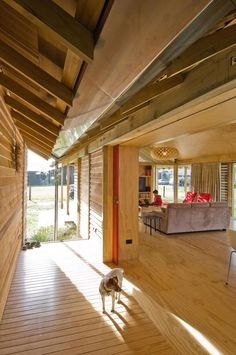 Architecture, Heavenly Wooden Rural Home Plans Of Shoal Bay Bach New Zealand Cabin By Parsonson Architects Featuring Wooden Material For Flooring, Wall, Ceiling And Beam: Refreshing Log Home Plans Constructed on the Hillside Land