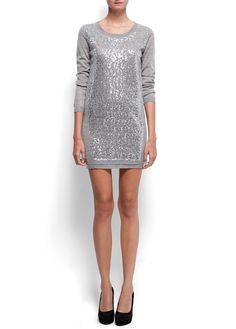 Sequin Knit Dress