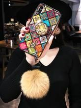 Load image into Gallery viewer, Rhinestone Pattern Retro Phone Case for iPhone(with AirBag Bracket) Cute Phone Cases, Mobile Phone Cases, Iphone Cases, Retro Phone, Gadgets, Gallery, Pattern, Image, Phone Cases