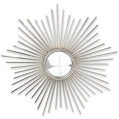 A bright burst of energy, this Sunburst nickel mirror is the perfect functional…