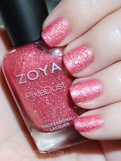 This is Zoya Zooey Swatches & Review of the Zoya Pixie Dust Seashells Collection including Levi, Bay, Cece, Linds, Zooey, & Tilly on All Things Beautiful XO