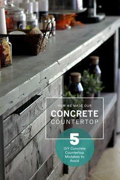 DIY Concrete Countertop   Gray House Studio