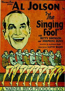 """FILM POSTER FOR """"THE SINGING FOOL"""" (1928)."""