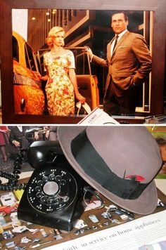 Mad Men Party - fun styling ideas on the blog post. http://eventsualitiesblog.com/miscellaneous/oh-for-the-love-of-gin-and-smoke/