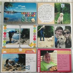 Project life Woche 25. Rechte Seite mit der honey Edition  Like how they spread a picture across 2 cards