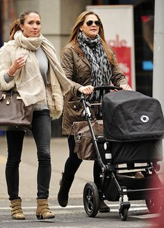 say-waaaat:  Princess Madeleine and baby Princess Leonore took a walk with a friend in New York, March 13, 2014