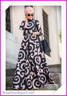 2016 Tesettür Giyim Abiye Elbise Modelleri 5