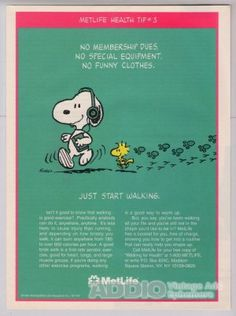 Image detail for -MetLife Snoopy '90s PRINT AD Woodstock insurance advertisement 1994
