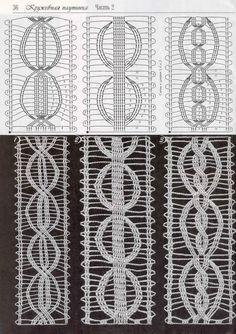 "Photo from album ""Дуплет on Yandex. Crochet Cable, Crochet Crop Top, Crochet Chart, Crochet Stitches, Free Crochet, Crochet Borders, Crochet Patterns, Bruges Lace, Crochet Classes"