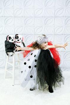 Cruella Deville/ 101 Dalmations Inspired Tutu Half by RockdOutToTs, $65.00