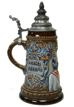 Beer Stein Franz Josef I by King, Vintage German 1987