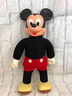 Disney Marching Mickey Mouse Vintage Hasbro Doll Collectible #Disney