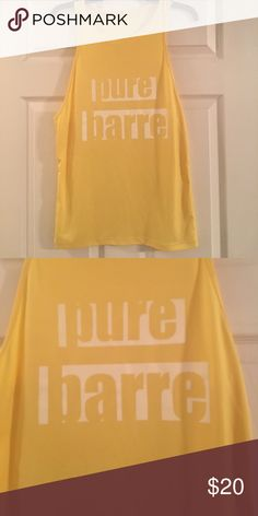 Pure Barre Tank Yellow muscle-tank style Pure Barre shirt  0110100null Pure Barre Tops Tank Tops