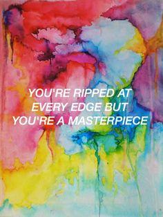 Colors // Halsey // Made By @hoodslyricart (Twitter)