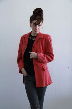 Vintage 1940s Pink Blazer  Fully Lined  Tailored Cut  by VeraVague, $88.00