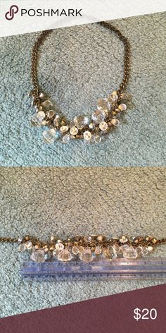 "BCBG statement necklace Great statement necklace to add some style to any outfit! Necklace measures approx 19"" total. Gems at center are approximately 7"" long BCBG Jewelry Necklaces"
