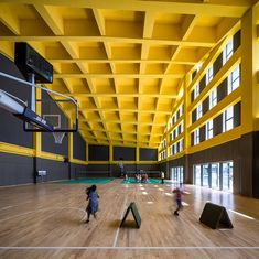 Image 28 of 37 from gallery of Hangzhou Haishu School of Future Sci-Tech City / LYCS Architecture. Photograph by Qingshan Wu Research Images, Sport Park, High Building, Arch Interior, Interior Design, School Plan, Architecture Images, Hangzhou, School Pictures