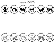 free printable scary cats match game,kids math the silhouette to the picture
