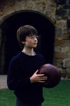 Harry learning Quidditch!