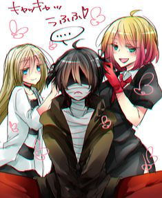 君が笑うまで Angel of Slaughter Fanart Ray, Zack, and Cathy