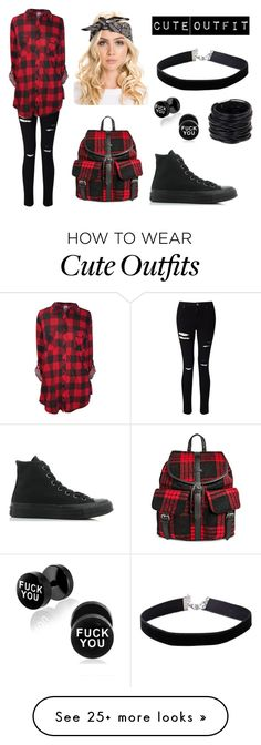 """""""Cute Outfit"""" by michaelaannforde on Polyvore featuring Miss Selfridge, Converse, Under One Sky and Saachi"""