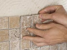 to Install a Kitchen Tile Backsplash Learn how easy it is to install a kitchen tile backsplash with these step-by-step instructions from HGTV.Learn how easy it is to install a kitchen tile backsplash with these step-by-step instructions from HGTV. Kitchen Redo, Kitchen Backsplash, Backsplash Ideas, Install Backsplash, Kitchen Ideas, Tile Ideas, Backsplash Design, Kitchen Cabinets, Mosaic Backsplash
