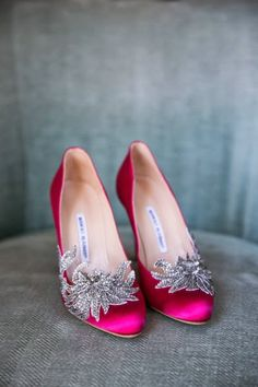 manolo blahnik swan embellished navy satin wedding shoes