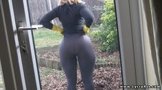 big arse Daniella in see through lycra leggings and no panties - LYCRA ASS VIDEOS