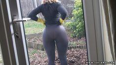 big arse Daniella in see through lycra leggings and no panties - LYCRA ASS VIDEOS