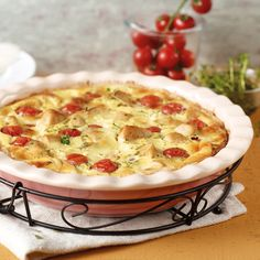 Hähnchen-Tomaten-Tarte Rezept | Weight Watchers