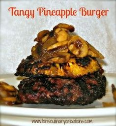 Tangy Pineapple Burger