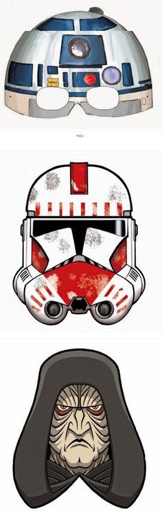 Star Wars Episodio 1: Máscaras para Imprimir Gratis. Printable Masks, Printable Star, Free Printables, Episodio 1, Star Wars Masks, Chewbacca, Star Wars Episodes, Puppets, Geek Stuff