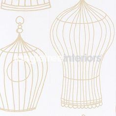Simple Birdcage design wallpaper