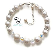Wedding, Prom, Brides, Bridesmaids, Mother of the Bride, etc...this bracelet makes a beautiful accessory for them all!