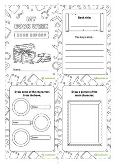 Sandwich Book Report Project: templates, printable