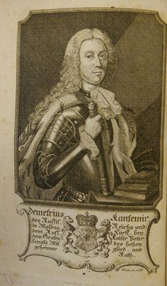 Portrait of Dimitrie Cantemir from his Beschreibung der Moldau, (Frankfurt & Leipzig, 1771). 572.d.29.