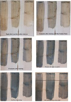 How To Make Wood Stain - using coffee, tea and vinegar. Easy and inexpensive way to make non-toxic stain and a great way to add character to a new piece of furniture.