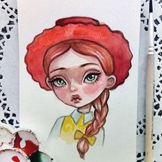Toy Story. Jessie. Watercolor postcard is available in my Etsy😊 Link in profile👉 SOLD- Thank you!💕 #doodletimewithkaroline #illustration #jessie #toystory #disneyart #watercolorart #instaart #postcard #etsy