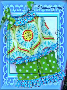 Blooming Dots by UniqueDesignsbyGigi on Etsy, $37.99