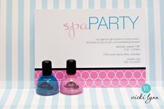 spa birthday invitation :: tomkat studio