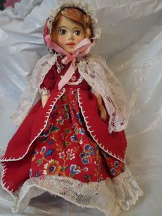 "Hand Carved Hitty Doll ""Rosa"" 